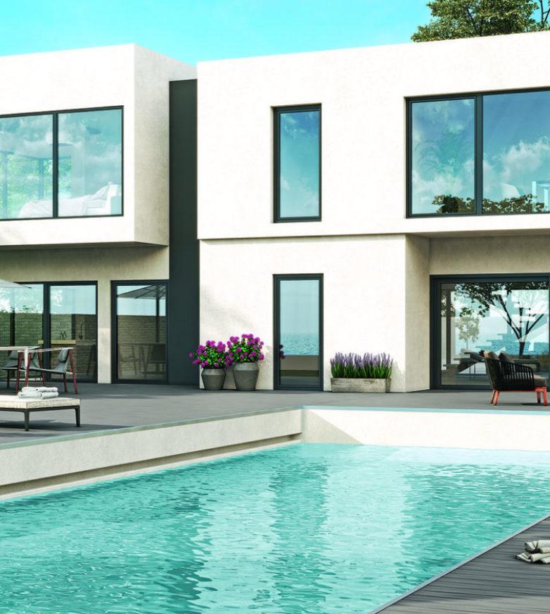House with a pool B3 270 eiche rauchgrau - Slider image